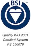 BSI Quality ISO 9001 Certified System - FS 556076
