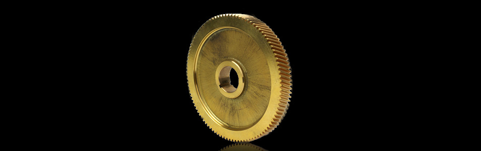 ISO9001:2008 Quality Certified System: High Precision CNC Machined Bronze Machine Gear